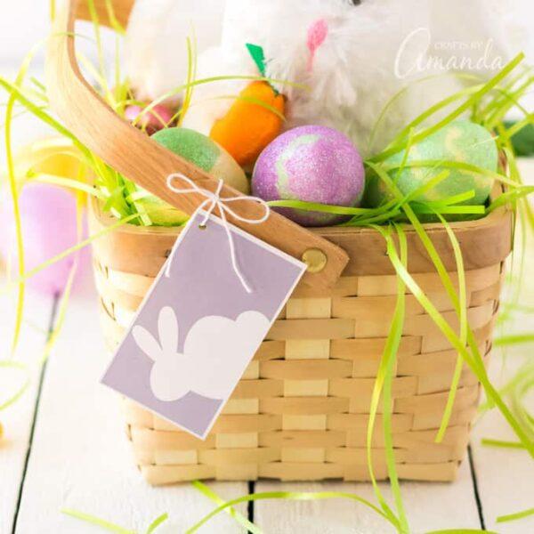 Printable Easter Basket Tags