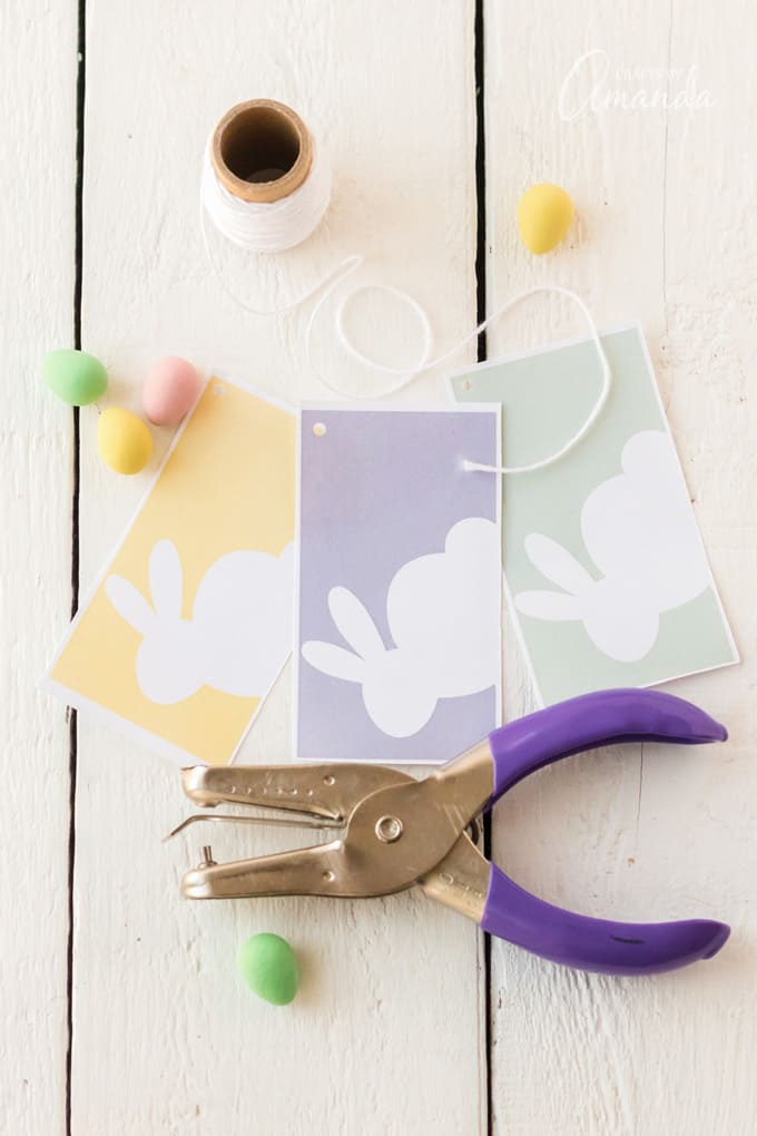 Hole punch and Printable Easter Basket Tags
