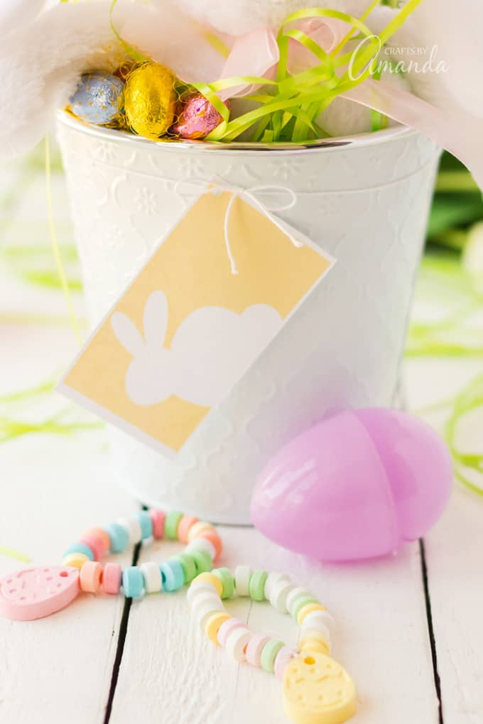 close up of Printable Easter Basket Tags