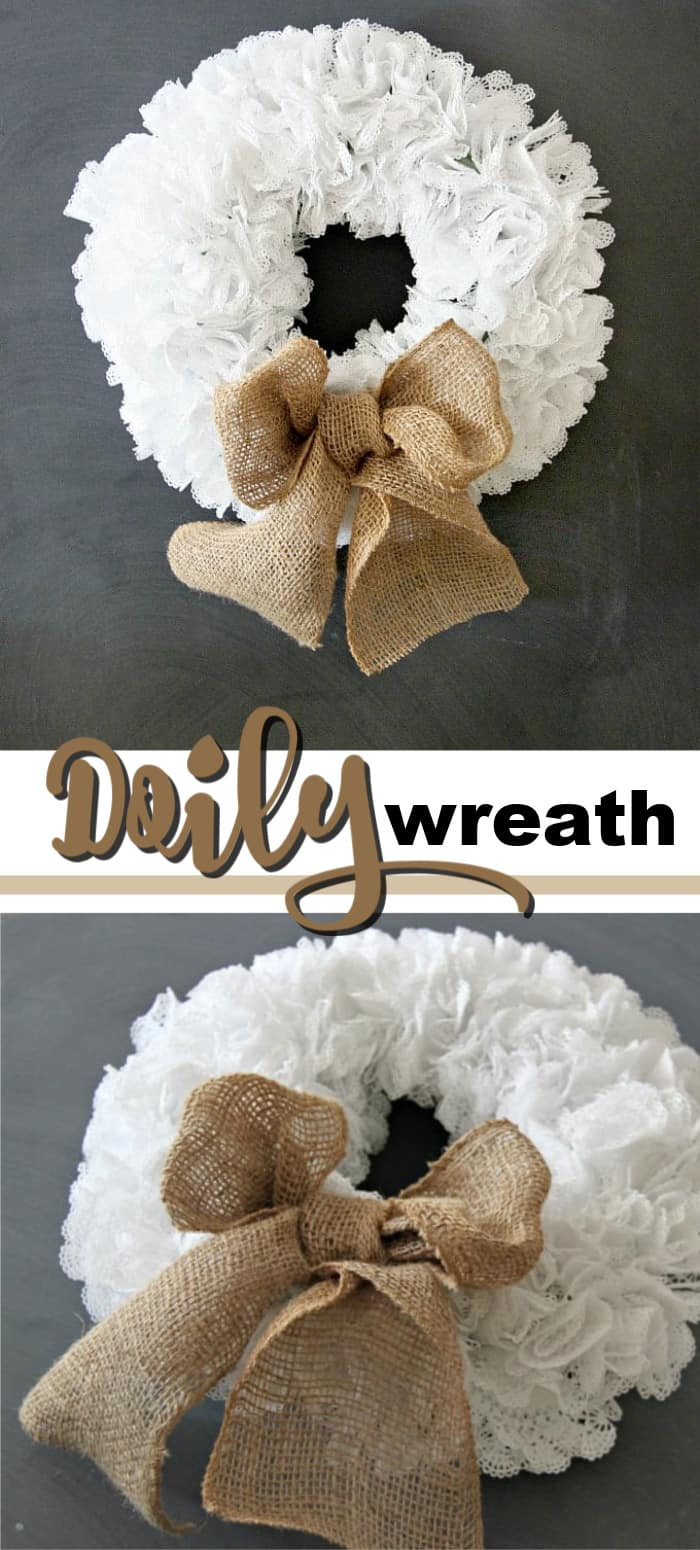 doily wreath pin image