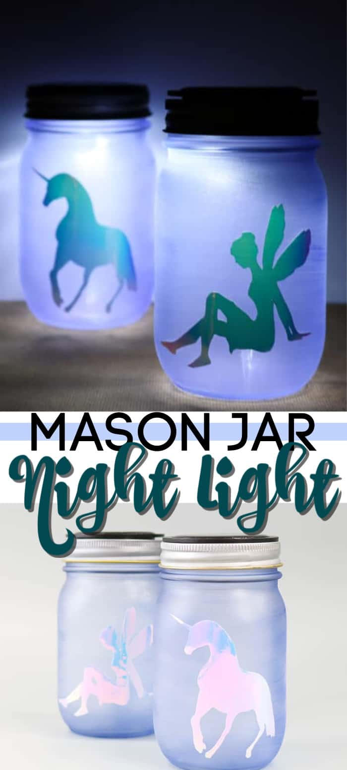 mason jar night light pin image