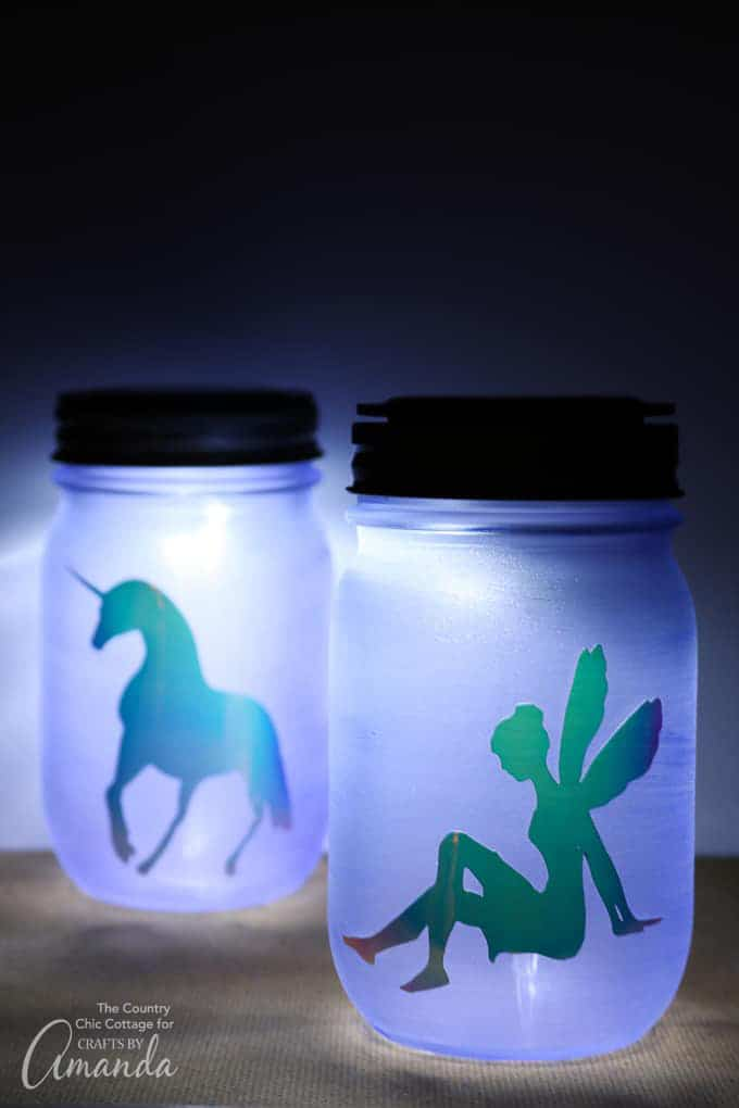 how to make a mason jar nightlight
