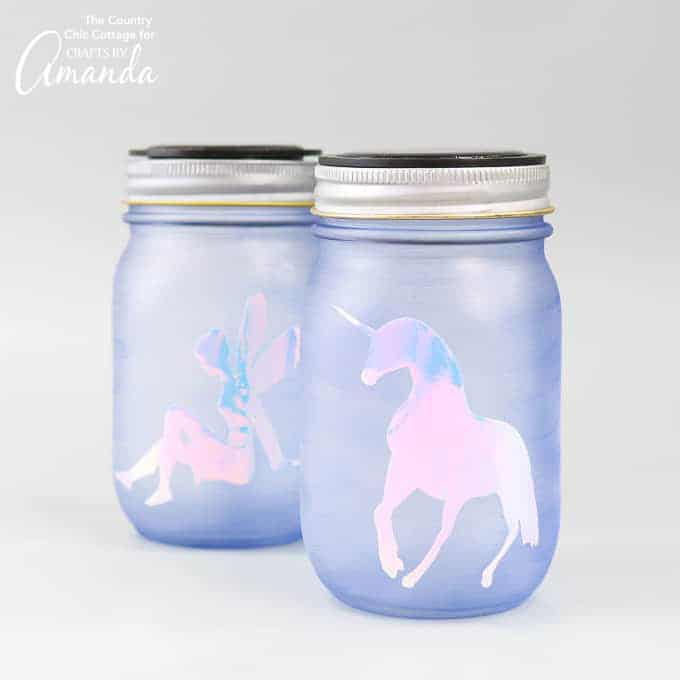 Mason Jar Nightlight Unicorn and Fairy
