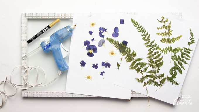 supplies needed for pressed flower art