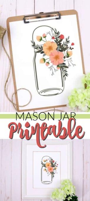 spring mason jar pin image