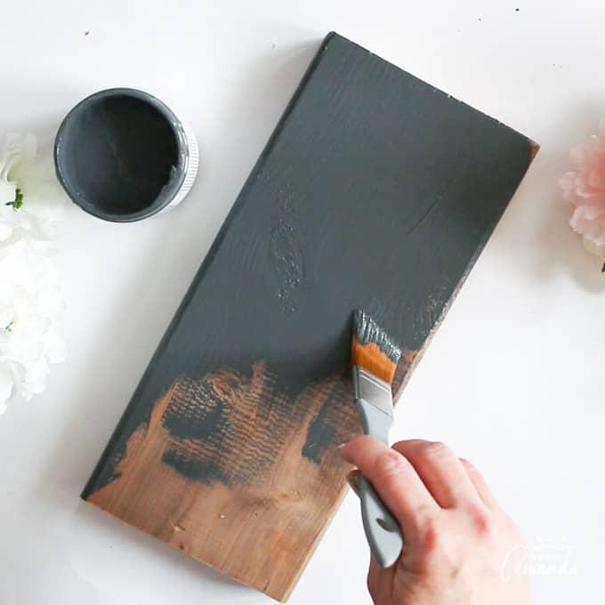 paint the wood slab