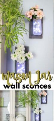 mason jar wall sconces pin image