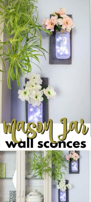 mason jar wall sconces pin image
