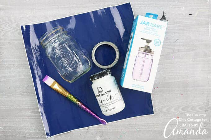 supplies for mason jar soap dispenser