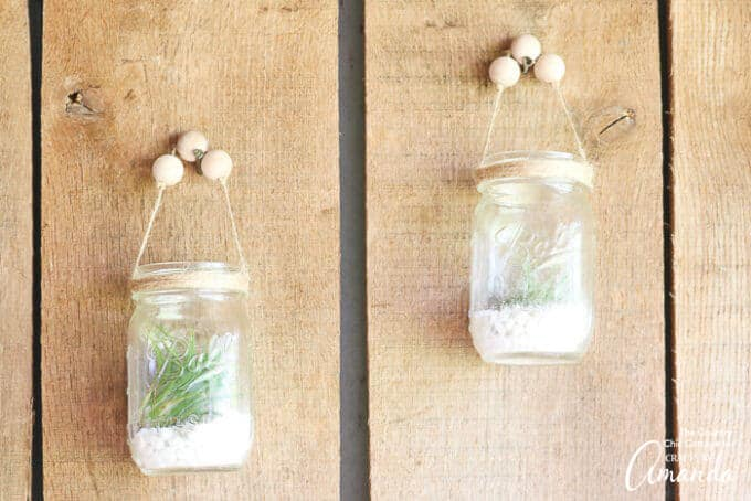 Hanging Mason Jars on wall