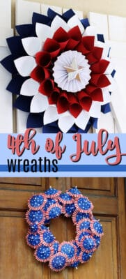 4th of july wreaths pin image