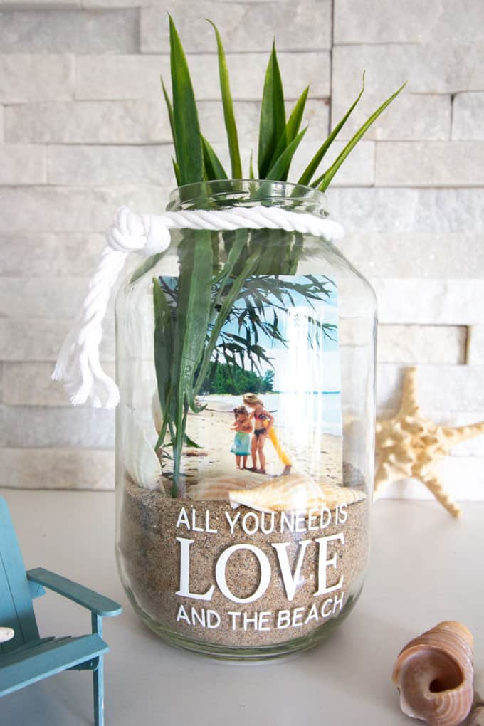 Vacation Photo Jar Beach Craft Crafts By Amanda