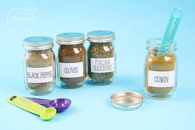 mason jar spice labels