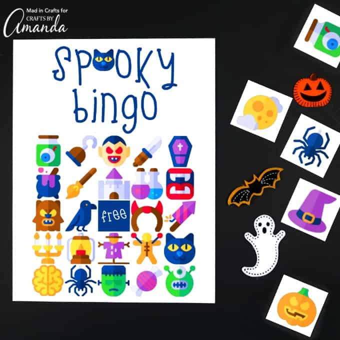 photo about Printable Halloween Bingo Cards called Halloween Bingo - Halloween Occasion Suggestions - Crafts through Amanda