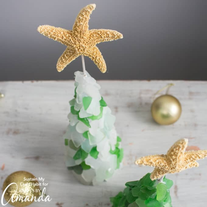 DIY seaglass Christmas tree
