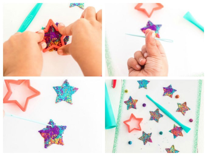 use a star cutter to make the shape