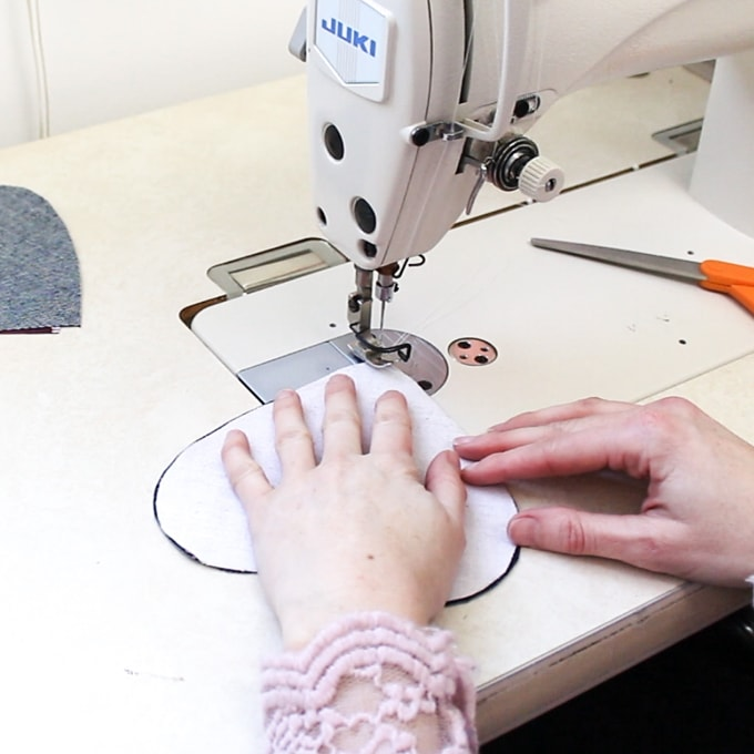 sewing large fabric hearts