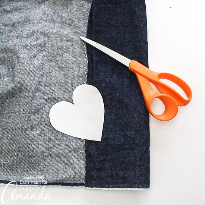 cutting small hearts