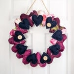 a pretty heart wreath