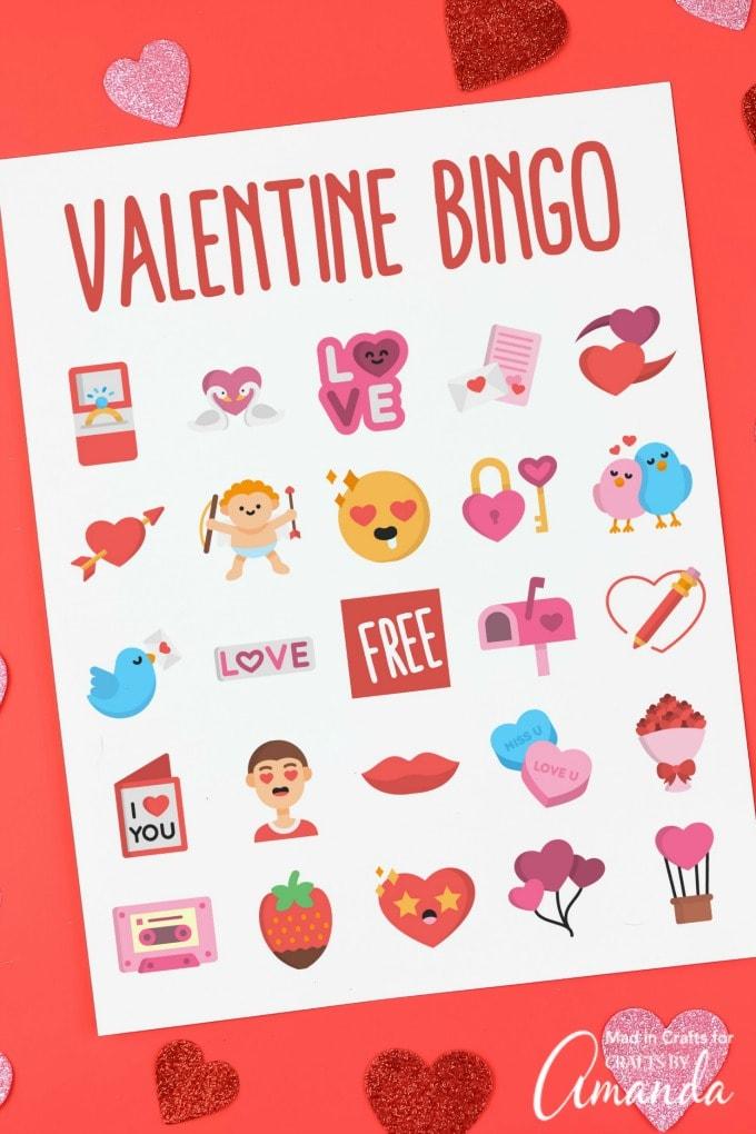 Cute Valentine's Day Bingo free printable