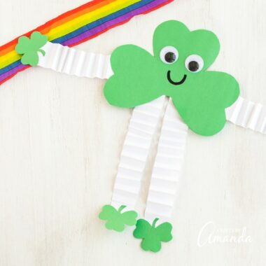 shamrock man craft with a rainbow
