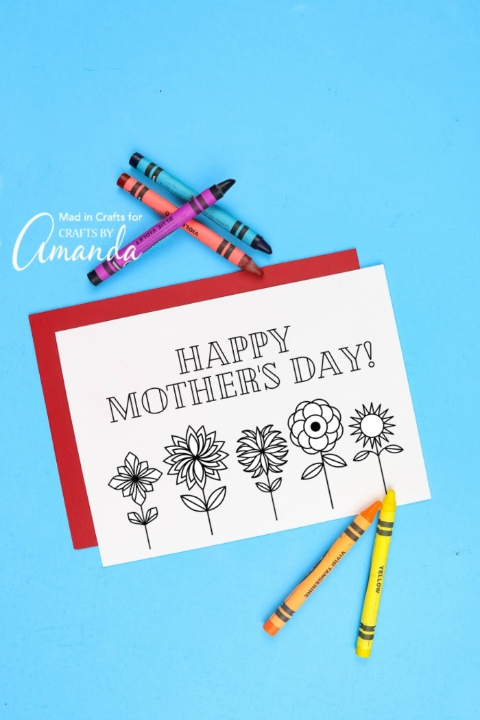Sensational Mothers Day Coloring Cards Crafts By Amanda Funny Birthday Cards Online Fluifree Goldxyz