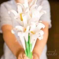 handprint easter lilies