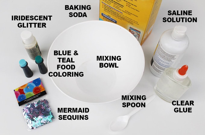 supplies for making slime