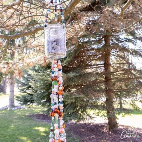mason jar wind chime