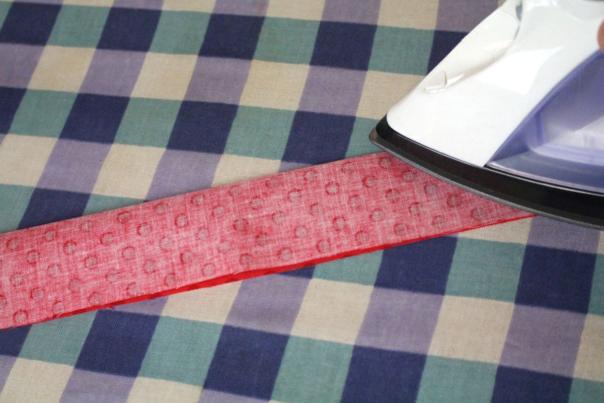 ironing fabric strip