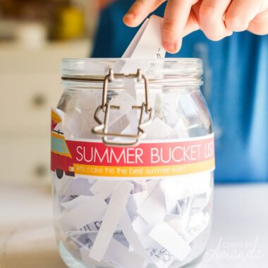 summer bucket list jar
