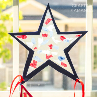 star shaped suncatcher on window