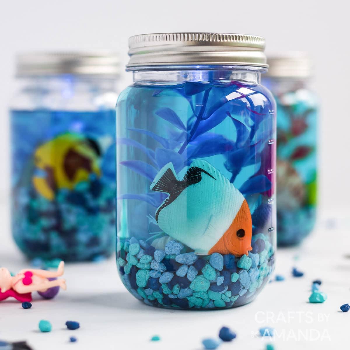 Mason Jar Aquarium Craft Crafts By Amanda Beach Crafts For Kids