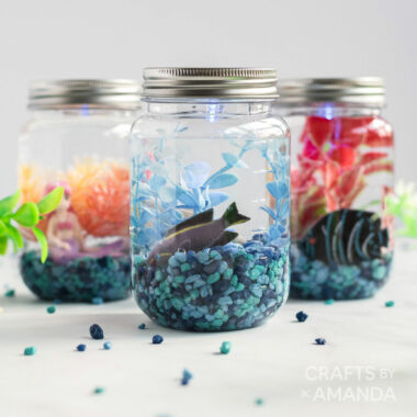 3 mason jar aquariums