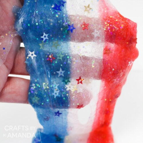 red white and blue slime