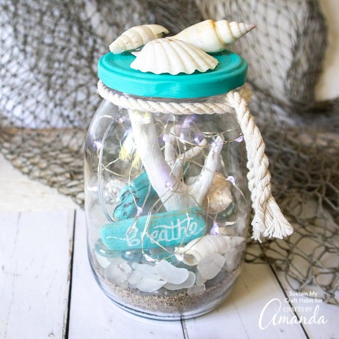 Beach Terrarium Crafts By Amanda