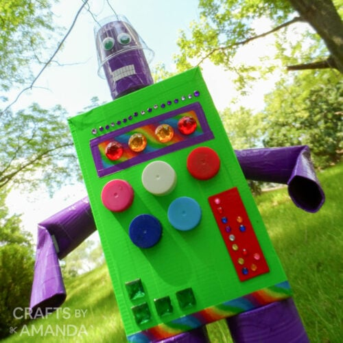 robot made from recycled materials