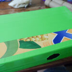cereal box covered in duck tape