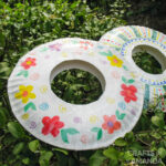 two frisbees from paper plates