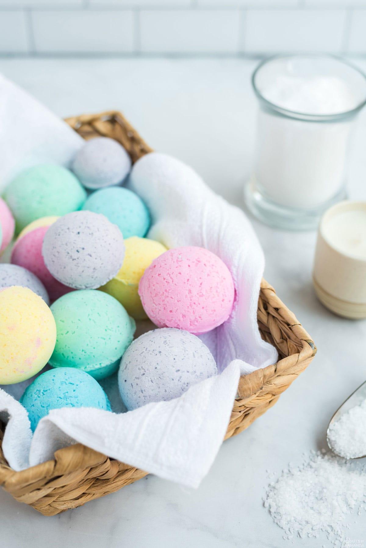 basket of bath bombs