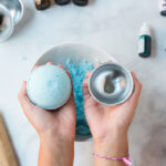 unmolding the bath bomb