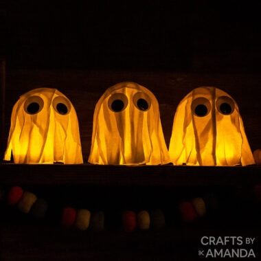 GHOSTS MADE FROM T-SHIRTS IN THE DARK