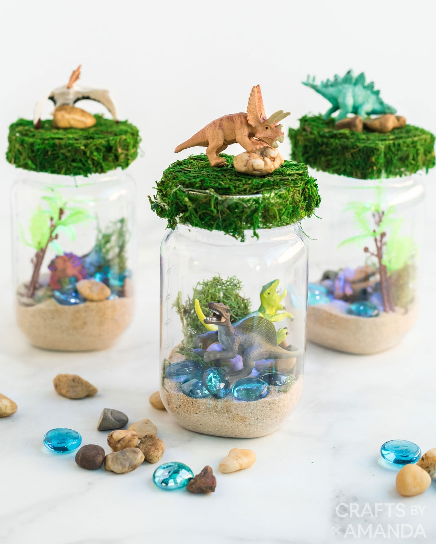 Dinosaur Nightlight Terrarium Crafts By Amanda Animal Crafts For Kids