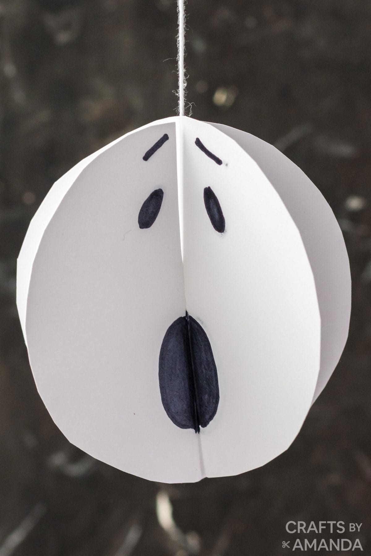twirling paper ghost