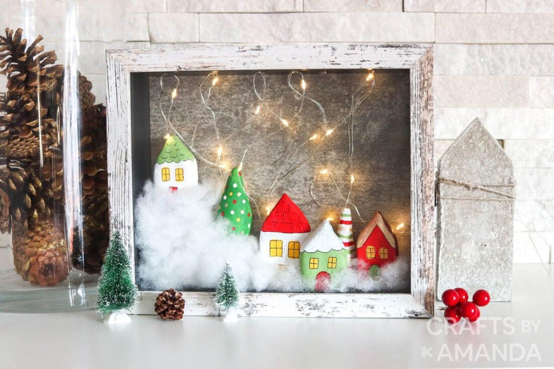 christmas village shadowbox