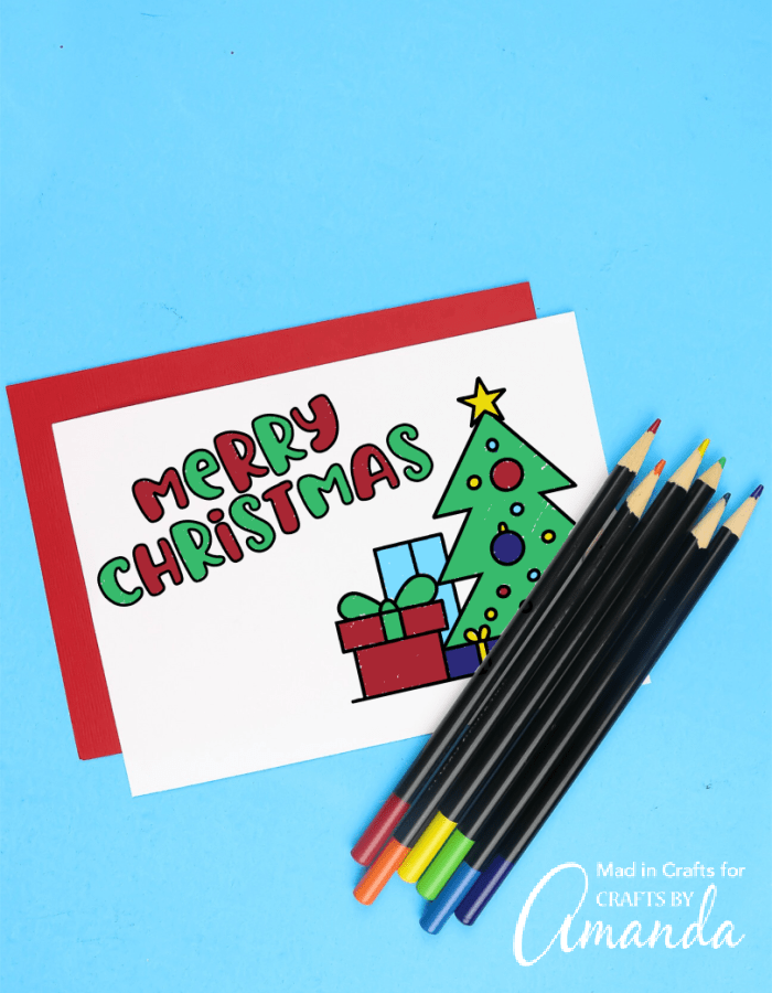 Add a touch of creativity to your Christmas cards this year with these Christmas coloring cards, a printer, and some art supplies!