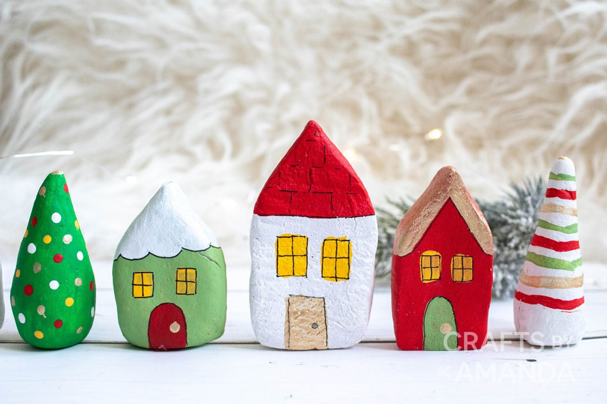 miniature salt dough houses