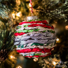 twisted paper ornament