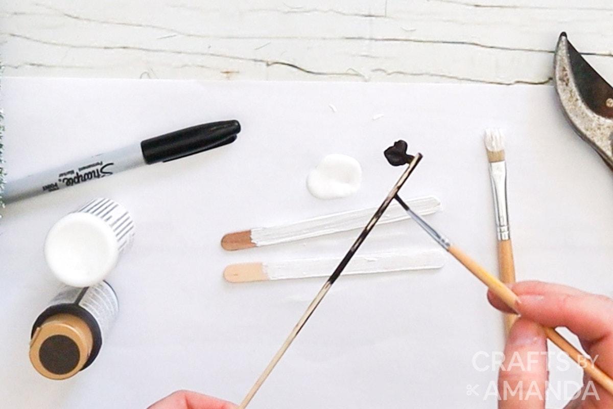 painting a skewer