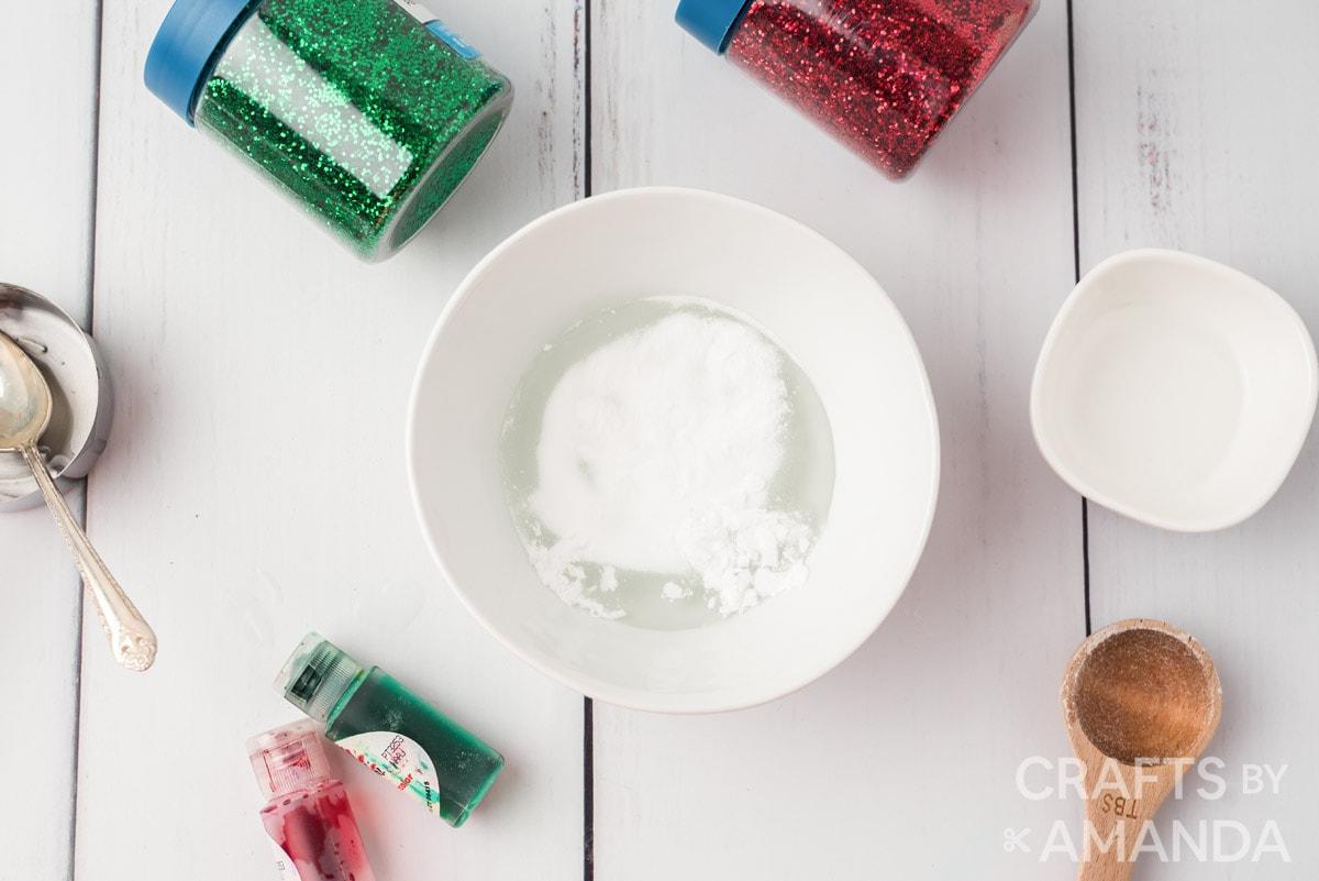 slime ingredients in a bowl